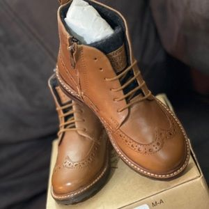 Zara Boys Lace-Up Ankle Boots- New With Tags